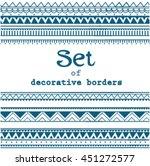 set of seamless borders. vector ...   Shutterstock .eps vector #451272577
