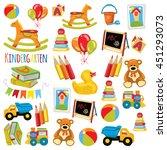 kindergarten play and study... | Shutterstock .eps vector #451293073