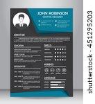 job resume or cv design... | Shutterstock .eps vector #451295203