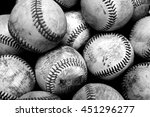 pile and stack of old worn... | Shutterstock . vector #451296277