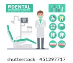 medical dental infographic.... | Shutterstock .eps vector #451297717