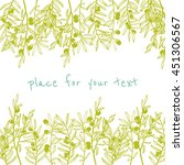 hand drawn olive branches made... | Shutterstock .eps vector #451306567