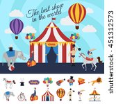 circus performance concept with ... | Shutterstock .eps vector #451312573