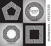 maze logo collection.... | Shutterstock .eps vector #451317133