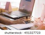 a businessman analyzing...   Shutterstock . vector #451327723