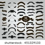 big set of 50 hand drawn black... | Shutterstock .eps vector #451329133
