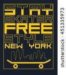 skate board typography  t shirt ... | Shutterstock .eps vector #451335973