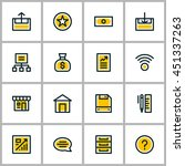 thin line business icon set.... | Shutterstock .eps vector #451337263