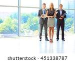 business woman standing in... | Shutterstock . vector #451338787