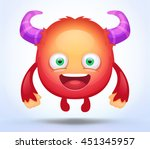cute cartoon monster | Shutterstock .eps vector #451345957