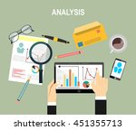 analytics information and... | Shutterstock .eps vector #451355713
