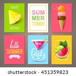 set of summer brochures with... | Shutterstock .eps vector #451359823