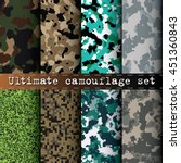 ultimate camouflage set of 8... | Shutterstock .eps vector #451360843