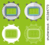 set of football stadiums or... | Shutterstock .eps vector #451364773