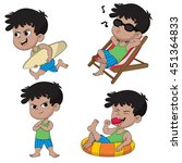 summer vacation.naughty boy... | Shutterstock .eps vector #451364833