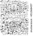business doodles sketch vector... | Shutterstock .eps vector #451368457