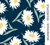 seamless floral pattern with... | Shutterstock .eps vector #451401913