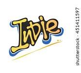 indie text logo typography... | Shutterstock .eps vector #451411597