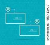 quotation mark speech bubble.... | Shutterstock .eps vector #451412977
