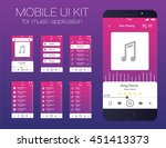 mobile ui kit for music...