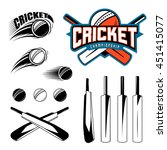 set of cricket sports template... | Shutterstock .eps vector #451415077