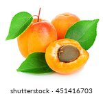 fresh apricots with leaves... | Shutterstock . vector #451416703