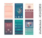 flat display ui collection of...