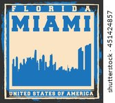 miami city concept. logo  label ... | Shutterstock .eps vector #451424857