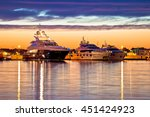 luxury yachts harbor at golden...   Shutterstock . vector #451424923