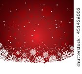 christmas background red | Shutterstock .eps vector #451426003