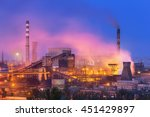 Metallurgical Plant At Night....