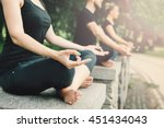 Young Yoga Practitioners In...
