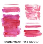 watercolor lilac magenta... | Shutterstock .eps vector #451439917