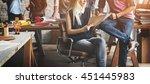 brainstorming team working... | Shutterstock . vector #451445983
