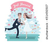 vector illustration of cartoon... | Shutterstock .eps vector #451450507
