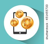 business world money economy... | Shutterstock .eps vector #451455733