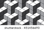 seamless black and white... | Shutterstock . vector #451456693