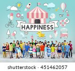 children kids energetic youth... | Shutterstock . vector #451462057