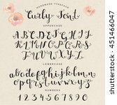 hand drawn calligraphy curly... | Shutterstock .eps vector #451466047