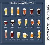 beer glass. beer glassware... | Shutterstock .eps vector #451473667