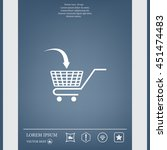 shopping cart icon | Shutterstock .eps vector #451474483