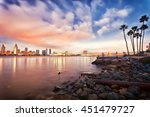 downtown san diego at night | Shutterstock . vector #451479727