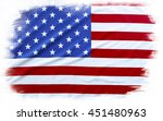 american flag on plain... | Shutterstock . vector #451480963