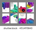 geometric cover background ... | Shutterstock .eps vector #451495843