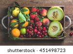 healthy summer fruit variety.... | Shutterstock . vector #451498723