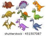 collection of dinosaur  vector... | Shutterstock .eps vector #451507087