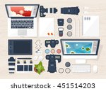 photography equipment with... | Shutterstock .eps vector #451514203