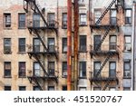 old dirty apartment buildings... | Shutterstock . vector #451520767