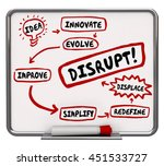 how to disrupt innovate evolve... | Shutterstock . vector #451533727