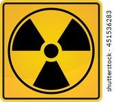 radioactive sign  symbol in... | Shutterstock .eps vector #451536283